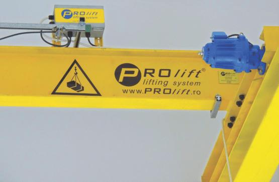 pod rulant - sistem culisare cablu și motor pod rulant