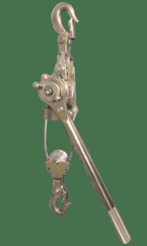 palan manual cu levier și cablu