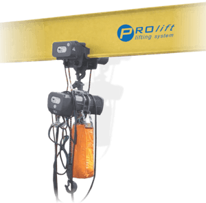 aplicatie palan electric monofazat cu troliu electric si cu lanț