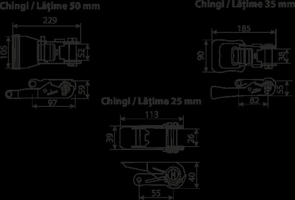 dimensiuni si caracteristici clicheți bandă fixare