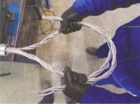 impletire sufa cablu cu ochi flemish eye