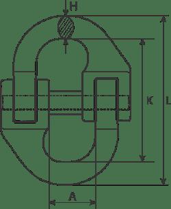 desen tehnic cuplă lanț
