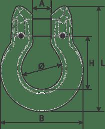 desen tehnic cuplă omega lanț