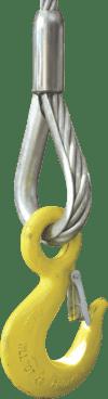 exemplu folosire cârlig ochi cu siguranță cablu