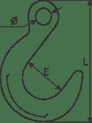 desen tehnic cârlig turnătorie