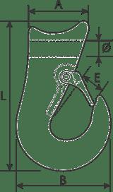 desen tehnic carlig culisant pentru cablu