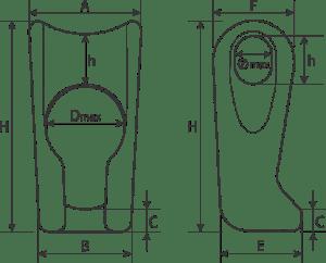 desen tehnic element culisant ajustare cablu