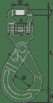 desen tehnic cârlig cu autoblocare chingi textile