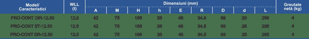 dimensiuni și caracteristici carlig ridicat containere