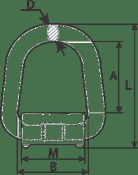 desen tehnic inel d-ring cu arc