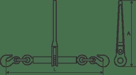 desen tehnic întinzătoare lanț
