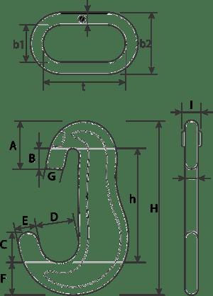 desen tehnic ansamblu lanț ancorare
