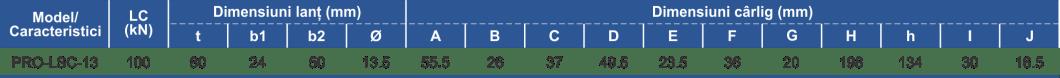 dimensiuni și caracteristici ansamblu lanț ancorare