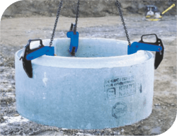 exemplu folosire cleste teava din beton