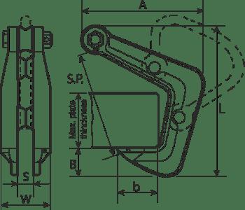 desen tehnic clești profile metalice