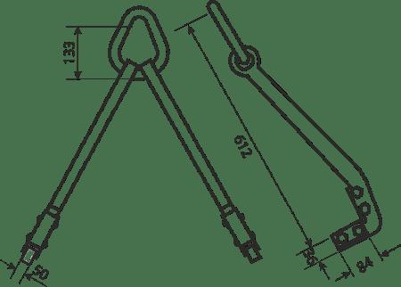 desen tehnic cârlige reglabile