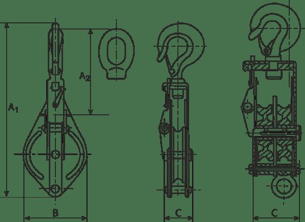 desen tehnic scripeți cu cheie tachelaj seria ușoară