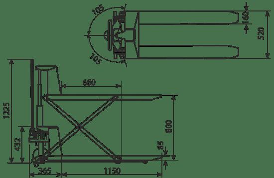 transpalet manual cu ridicare
